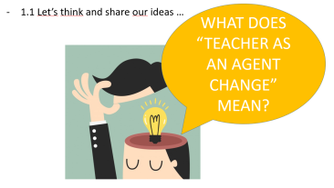 teacher as a change 1