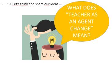teacher as a change 1