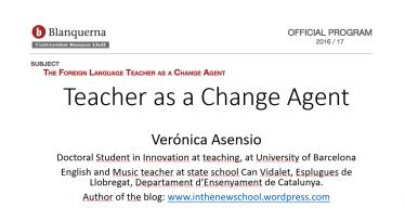teacher as a change agent